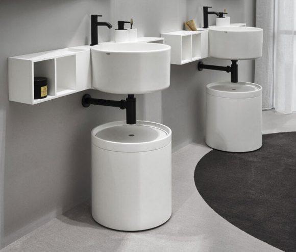 lavabo tondo in ceramica
